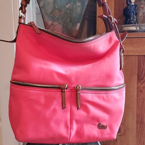 f02ac0e6b21f Dooney & Bourke Bags | Dooney Bourke Large Pink Nylon Bag | Poshmark